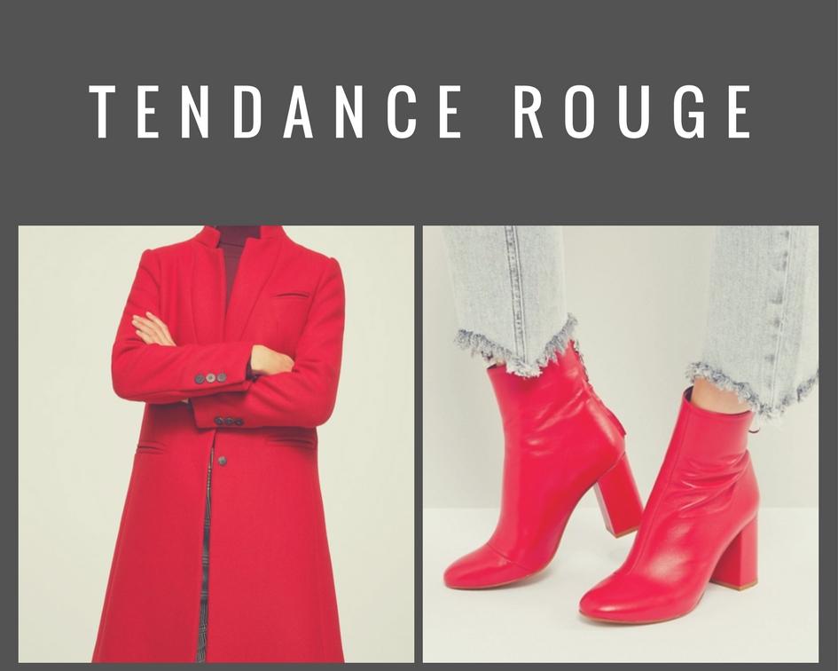 Bottines et manteau rouge
