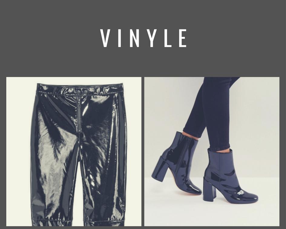 Pantalon et bottines en vinyle