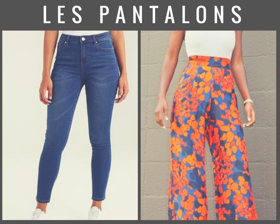 Pantalon slim et pantalon large
