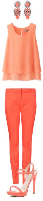 Look monochrome orange