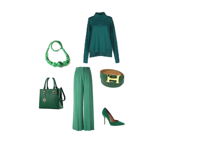 Look monochrome vert