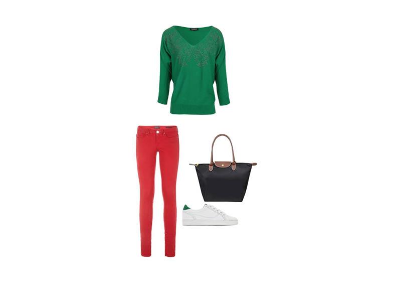 Look complémentaire rouge et vert