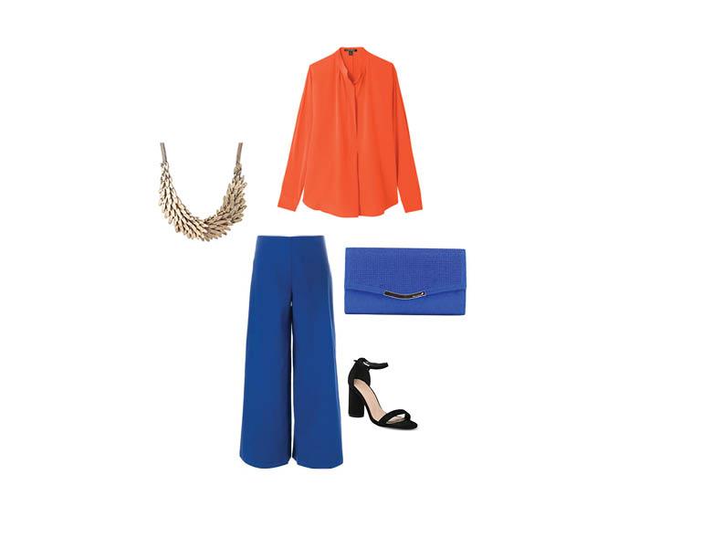 Look complémentaire orange et bleu