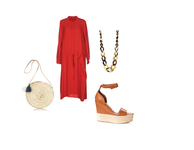 Look diade rouge et marron